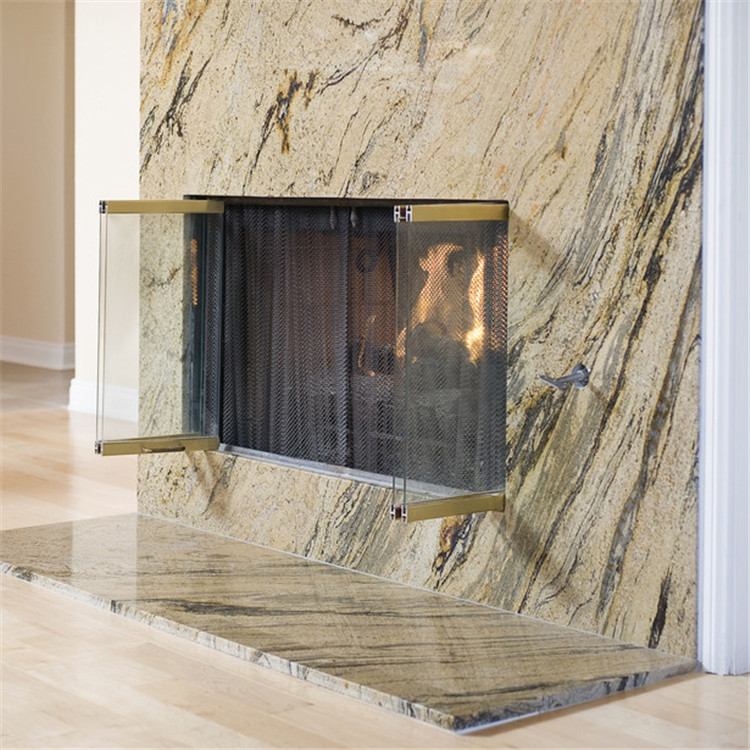 Hot Selling Ceramic Glass Fireplace Glass Door With Low