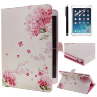 For ipad 2 3 4 5 6 cover Elegant design wallet cell phone leather case for ipad apple air 2