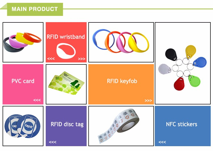 Customed Classic 1K 13.56Mhz NFC Rfid Wristband/Waterproof Wristband