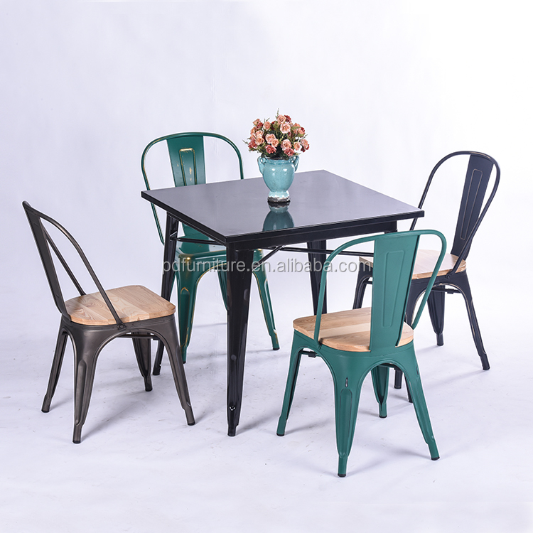 Restaurant furniture, industrial metal restaurant table chairs for sale