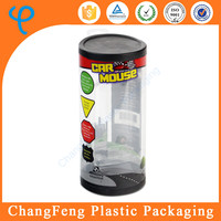 Eco-Friendly Printing Round Shape 0.3mm Clear PVC Plastic Toy Packaging Box