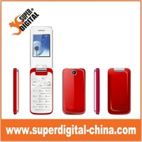 hot sale 2.4inch metal unlock gsm senior Flip mobile Phone with CE FCC