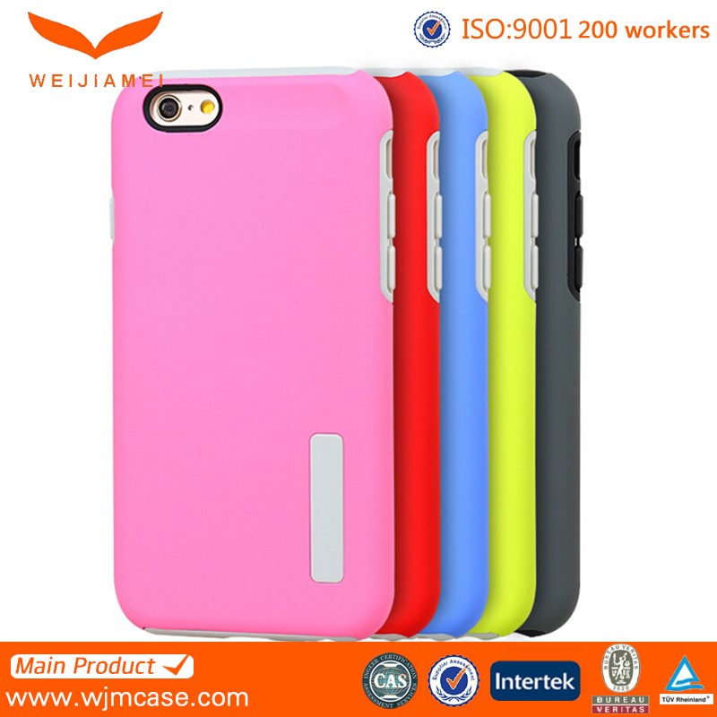 Candy color case for iphone 6 tpu/pc, mobile case for iphone 6 tpu/pc