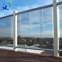 outdoor tempered glass fence panels