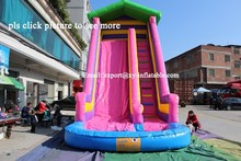adult size inflatable water slide with pool children's pool with a slide