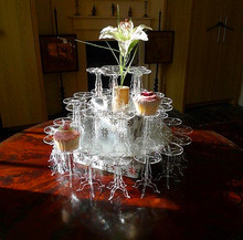 5 Sets Wholesale Cute Lighted Acrylic Cupcake Pedestal Mini Centerpiece Stands
