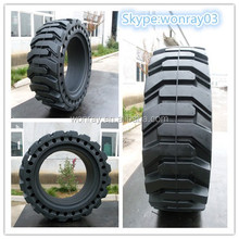 Top sale natural rubber flatless 12 x 16.5 bobcat skid steer pneus,10x16.5 skid loader pneus bobcat rim assembly