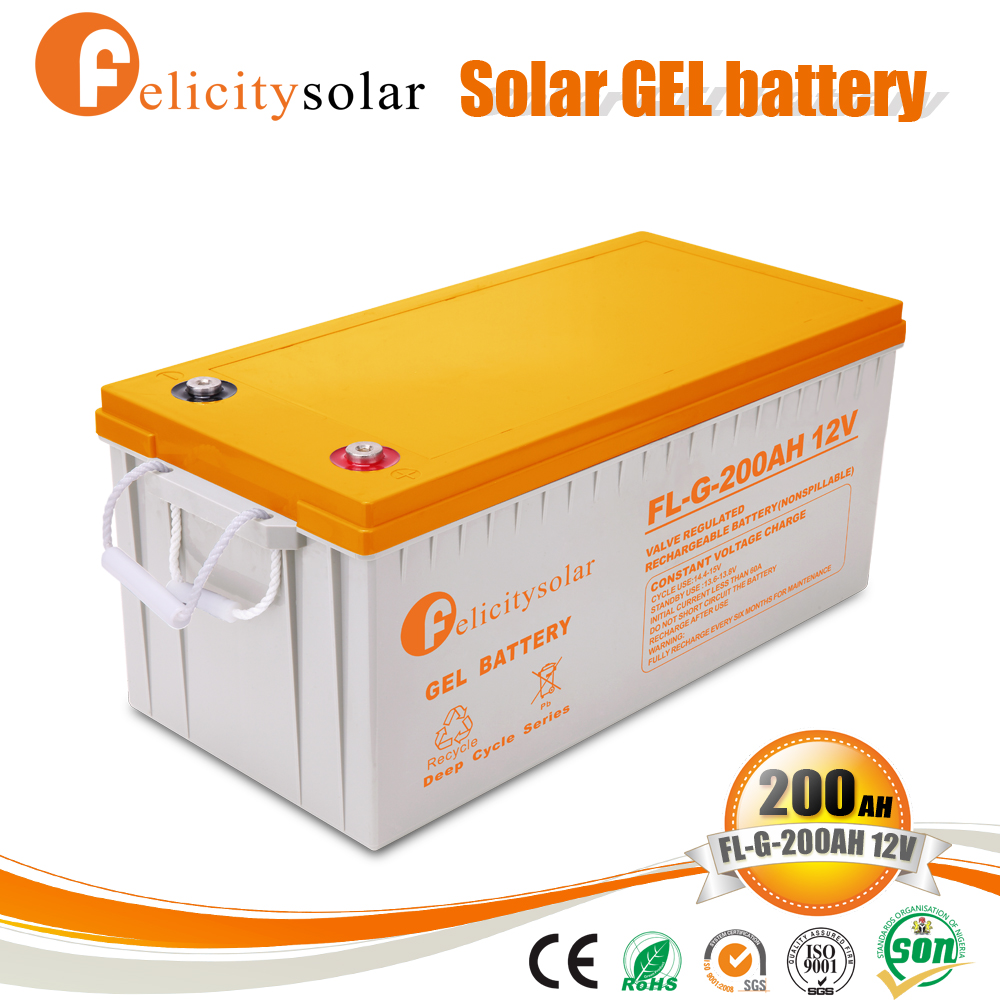 2017 New design 12v 200ah solar energy battery of Bottom Price