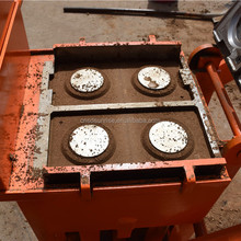 QMR2-40 Small manual hand press compressed concrete earth block brick making machine