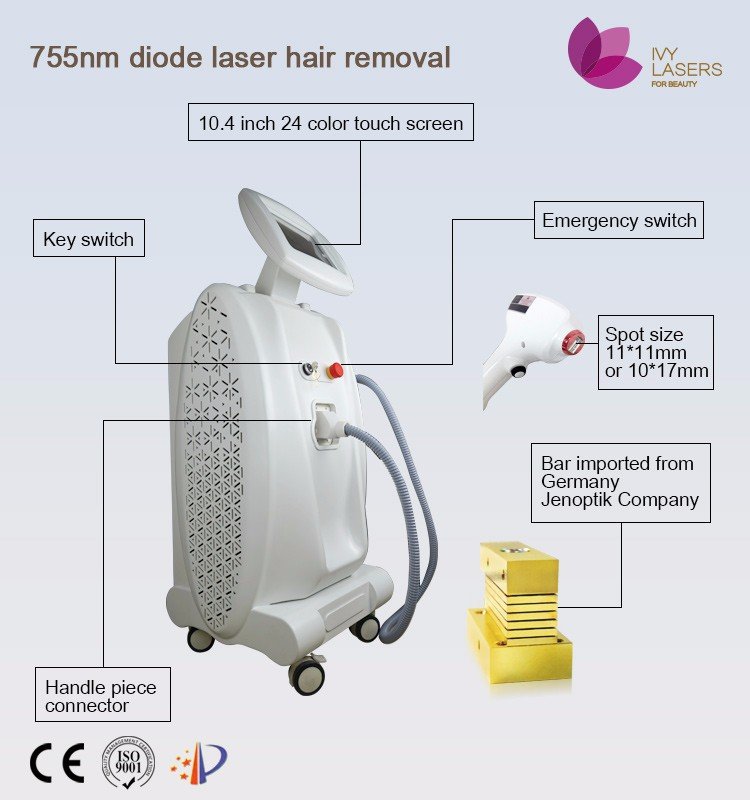 beauty hot sale 2016 755 nm hair removal laser gun
