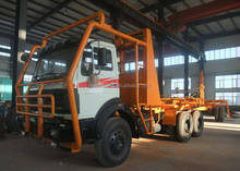 Beiben truck 420HP heavy duty logging truck wood transportation truck