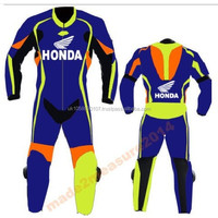 2015 Biker style leather 1 & 2 piece leather suits new leather suit