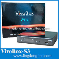 Decodificador satellite receptor nagra 3 vivo box s3 twin tuner hd receptor for South America cheap than az america s930a