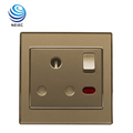 250V 15A 1 Gang 3 hole Switched Electrical socket