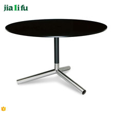 Industrial style fast food restaurant round dining table set philippine