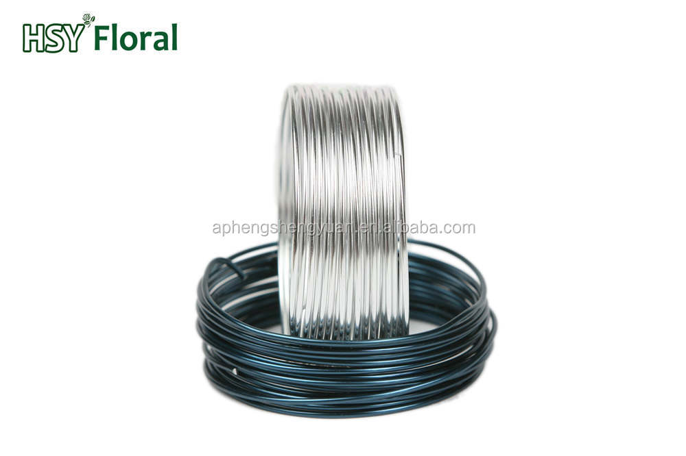 HSY 2MM round aluminum wire,colored flower wire,colored anodized