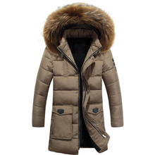 D70122A 2018 Heavy hair collar long cotton-padded clothes coat for men european design men winter jackets