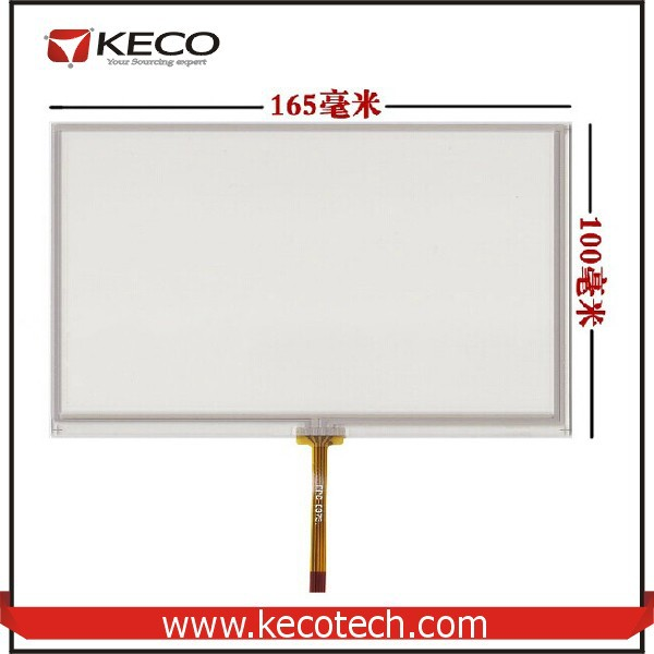 7 7.0 inch General 4 wire resistive 165*100 165mm*100mm Middle Flex Cable touch glass digitizer Screen