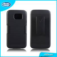 new arrival phone accessories hard shell case holster for samsung galaxy s6 with kickstand