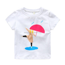 New arriving plain cotton kids t shirts short sleeves cartoon baby girl t-shirts wholesale