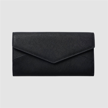 RFID blocking card lady smart 100% saffiano leather Envelope Wallet