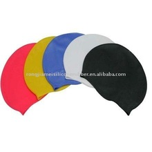 fashion bathing caps silicone swimming caps with Rohs certificated