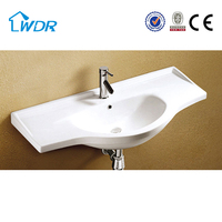 Ceramic china hand sanitary corner washroom wash basin cabinet