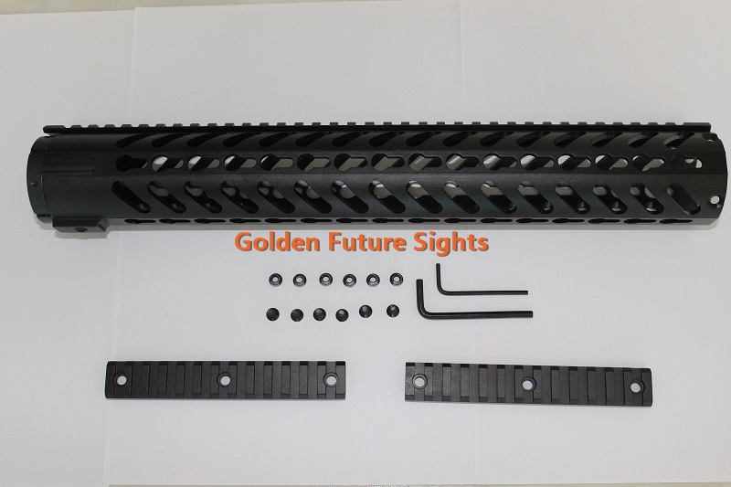 GFM067D KeyMod Free Float Rifle Style 15 Inch Handguard Rail Mount