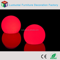 rechargeable IP67 waterproof plastic floating led ball light
