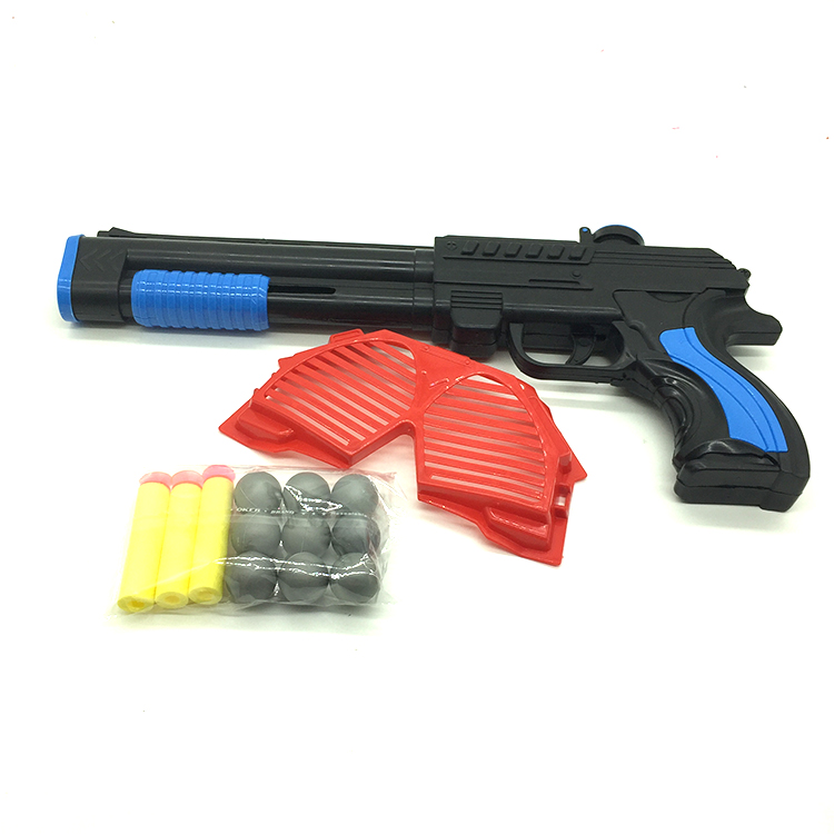 Kid game plastic ping pong ball toy shooting gun