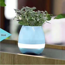 best quality New design bluetooth music led lighting color changing smart flower pot garden(S1-11)