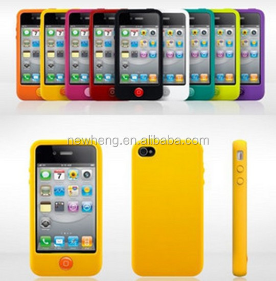 Fashion Colorful Chocolate Beans Button Soft Silicone Skin Case For iPhone 5