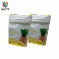 Custom Printed Aluminum Foil Square Bottom Ziplock Pouch for Dried Pineapple Mongo Packaging