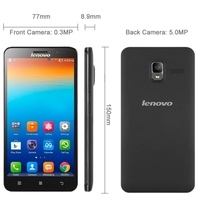 Original Dual Core Phone MTK6577 Lenovo A660 Android 4.1 Waterproof smart Phone