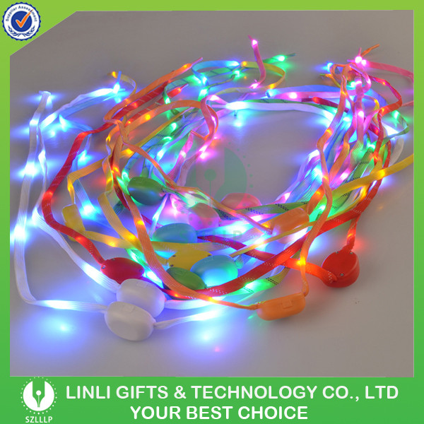 Glow In Dark RGB Light Up Flashing Shoelace, LED Shoe Lace, Nylon Light Shoelace