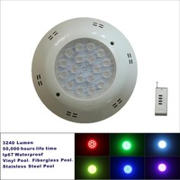 RGB 30w led pool light 12v cool led underwater mini wireless led fountain light ip68