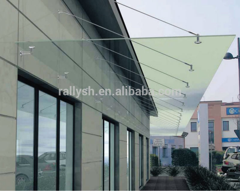 Laminated Glass Entrance Canopies Commercial Frameless Canopy