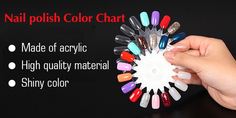 A5568 Natural Transparent Color 24tips*5pcs Acrylic Nail Polish Color Chart Set