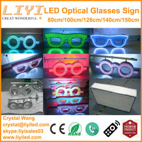 2015 new electronics outdoor optician shop advertising neon led optical glasses sign