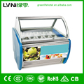 LVNI ice cream cooler gelato showcase display fridge