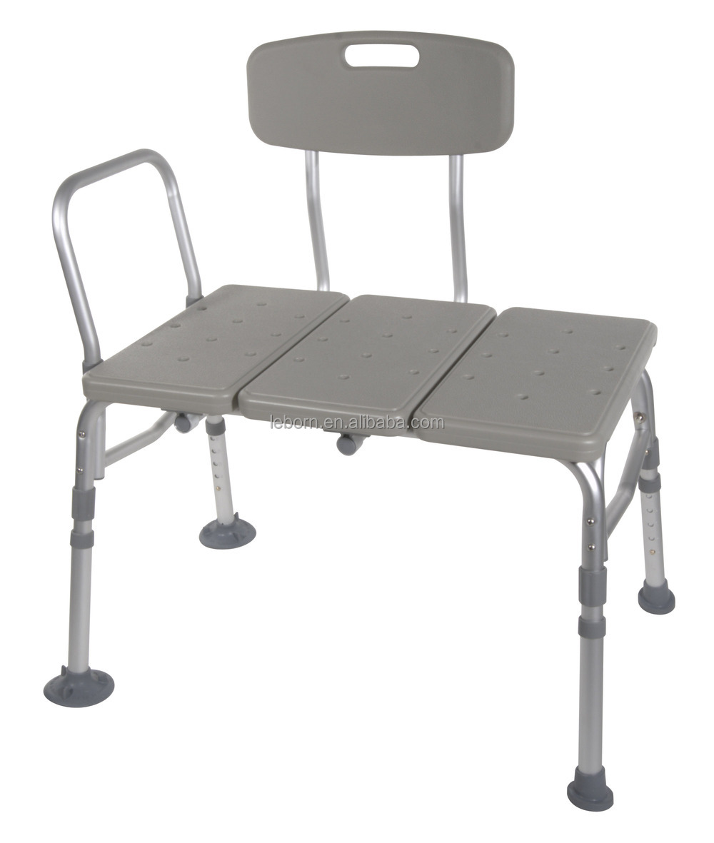 height adjustable shower chair with backrest