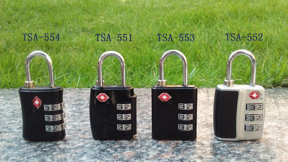 CJSJ high quality 3 digit zinc alloy TSA combiantion lock Resettable digit lock
