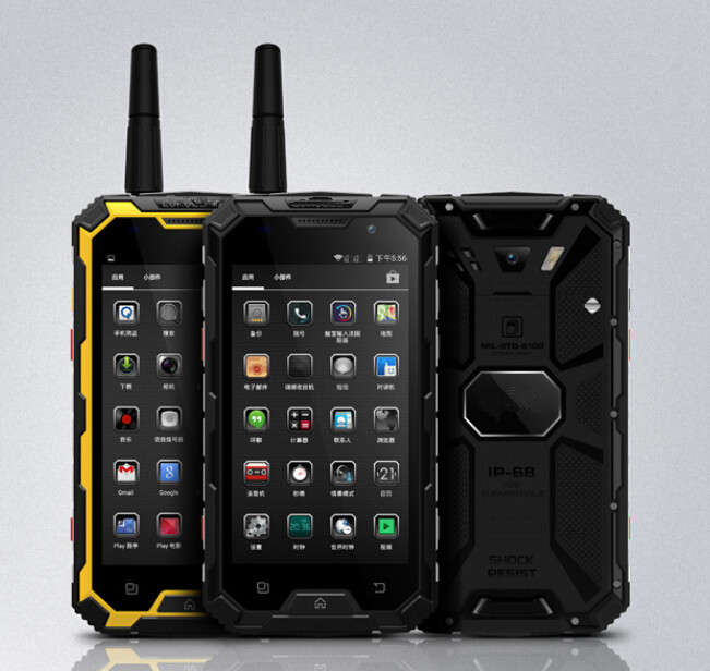 Waterproof Shockproof Smartphone 4G LTE Android 4.4 Original CONQUEST S8 NFC PTT Rugged Phone