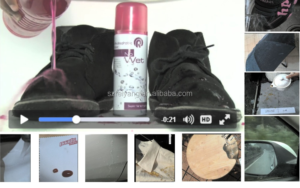 Nano hydrophobic spray for textile, shoe and leather etc