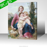 traditional family nake children canvas printing art