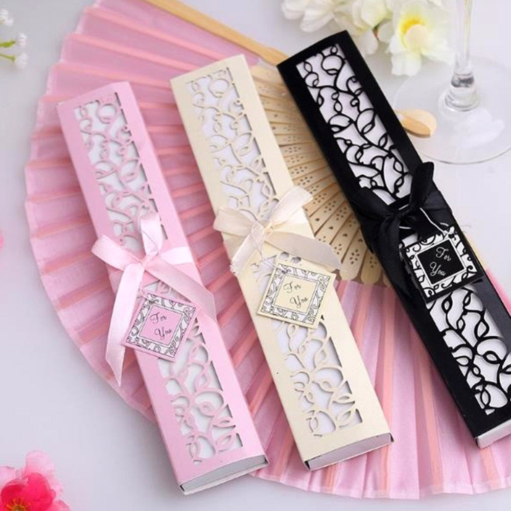 high end silk <strong>bamboo</strong> hand fan wedding fan favors gifts for guests