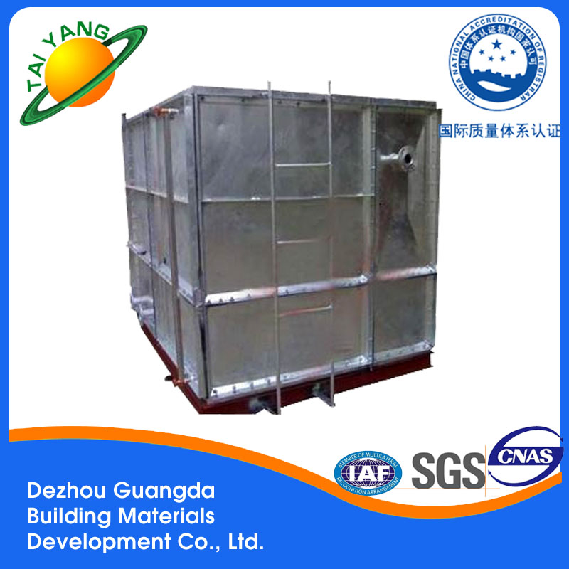 Professional water tank with high quality Dezhou galvanized water storage tank galvanized water tank