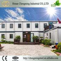 China Low cost container house/green construction recyclable portable modular warehouse building