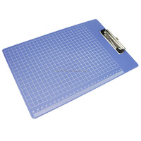 Office School A4 Blue Plastic Clipboard With Metal Clip