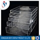 Transparent Cosmetic Display Stand Countertop Acrylic Makeup Drawers earing jewelry organizer storage